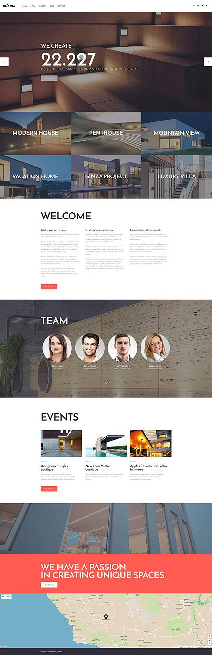 Architecture website inspirations at your coffee break? Browse for more WordPress #templates! // Regular price: $75 // Sources available: .PSD, .PHP, This theme is widgetized #Architecture #WordPress