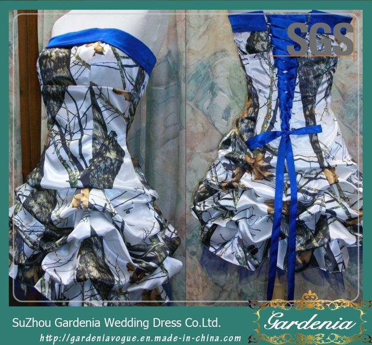 Royle Blue Wedding Party Gown SGS Short Camo Prom Dress 2015 (GDNY427) Photos & Pictures