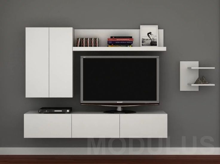 17 best ideas about tv rack on pinterest tv wall shelves for Muebles modernos living para tv