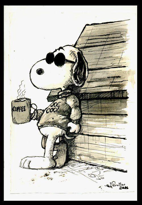 "Joe ""Snoopy"" Cool drinks Coffee"