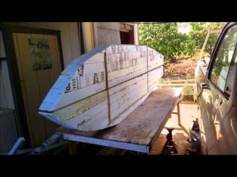Scrap XPS Insulation Fishing SUP Part 1 - YouTube