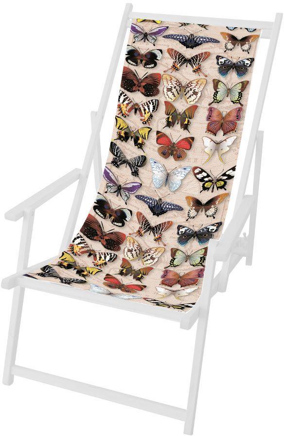 Toile Papillons en Polyester pour Chilienne 42,5x113cm sur Jardindeco