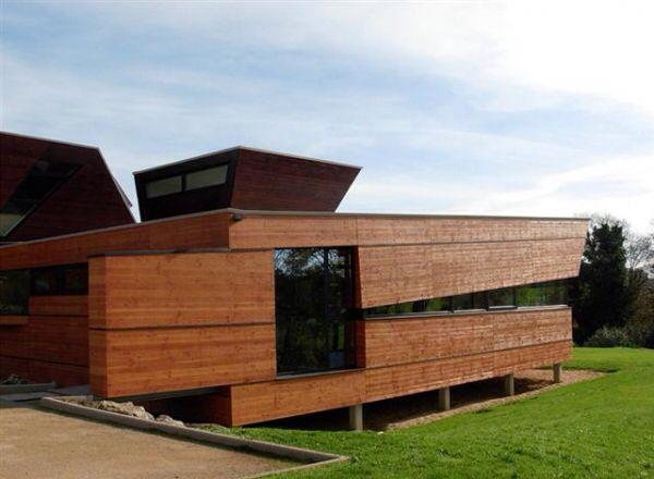 ICBois maison avec bardage bois  BARDAGE TERRACE LAMBRIS  Pinterest