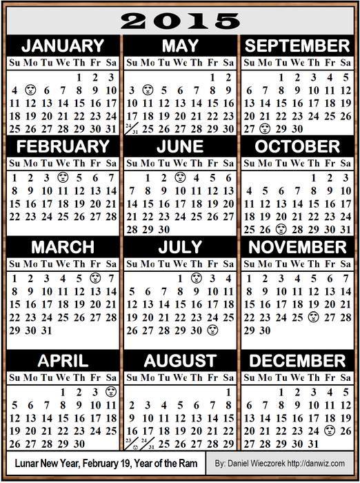 window calendar template 2015