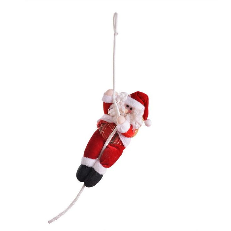 1Pc Plush Christmas Santa Claus Rope Climbing Doll Tree Decoration Ornaments