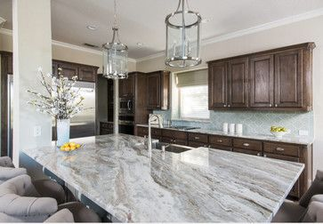 Like everyone else out there it seems, I had been searching for a light grey or whitish granite with the look of a marble or quartzite. Nothing had been making my heart sing. I found a gorgeous slab of Fantasy Brown that is a bit different than what I was originally going for, but is gorgeous noneth...