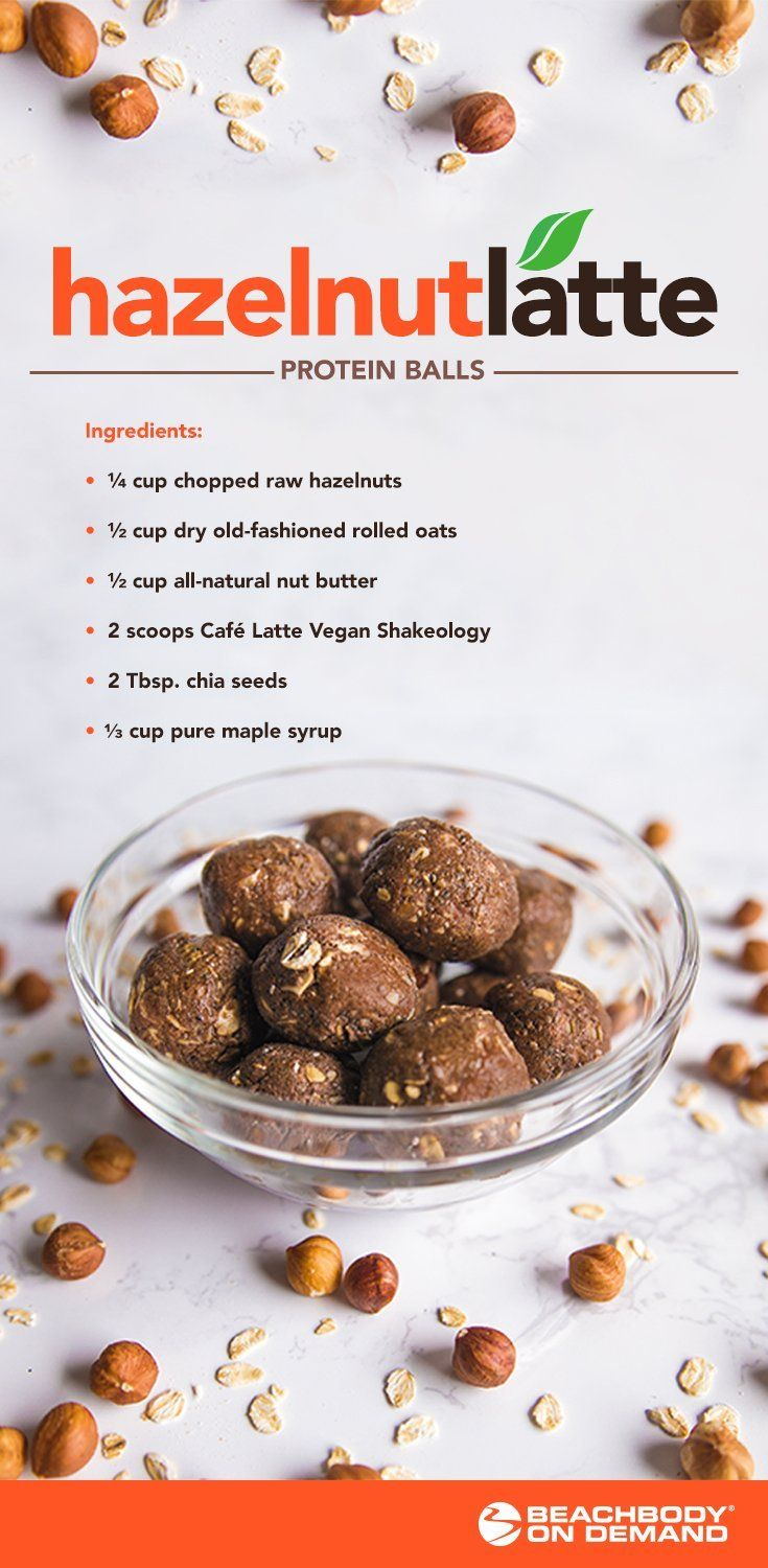 These hazelnut latte protein balls will fulfill all your sweet tooth cravings and Fall feelings without any of the guilt. Best Shakeology recipes // Vegan dessert recipes // Shakeology protein balls // 21 Day Fix // Healthy Fall recipes // Beachbody // Beachbody Blog