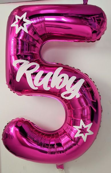More personalised balloons for www.getpersonalised.net This one is for Ruby's 5th birthday.