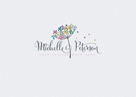 Professional Logo Design at a fraction of the cost. Customize this logo for your own business. #skincare #Watermark #logo #logostore #brandidentity #logodesign #graphicdesign #designer #needlogo #designer #logodesign #logodesigner #etsy #dandelion #colorful #cute #customdesign #branding #rainbow