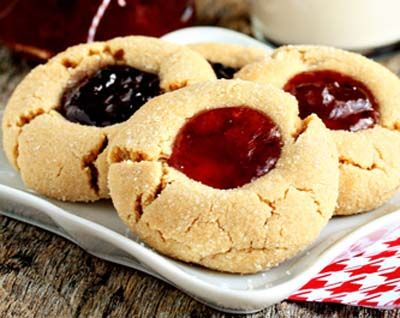 Peanut-butter-and-jelly-cookies - gluten free. For potluck