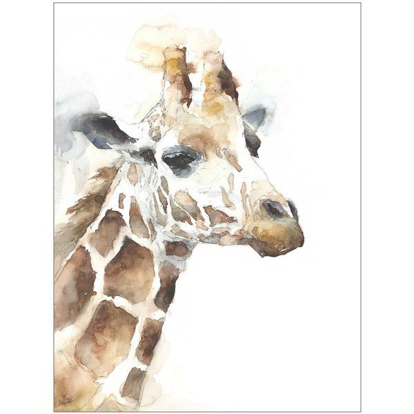 Watercolor Safari I Canvas Wall Art ($172) ❤ liked on Polyvore featuring home, home decor, wall art, wildlife home decor, safari wall art, giraffe wall art, giraffe home decor and safari home decor