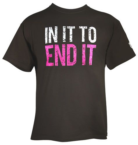 Avon: Avon Walk IN IT TO END IT Mens Tee   (Breast Cancer Walk Fund Raiser Merchandise)
