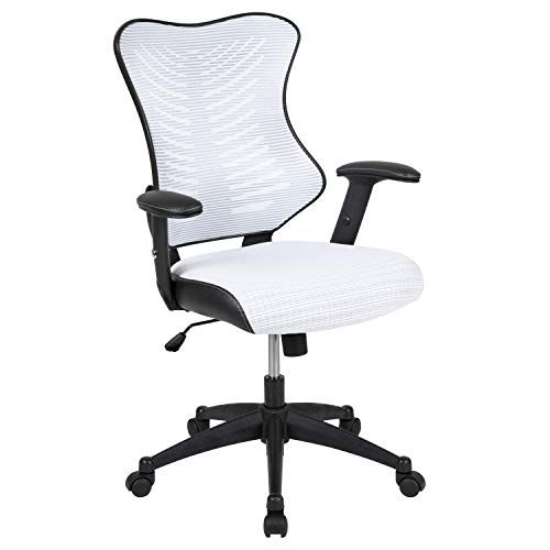 Furniture High Back Designer White Mesh