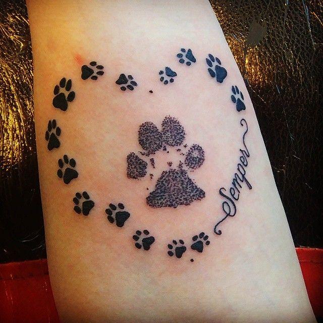 Pawprint Foot Tattoo: Dog Tattoos, Bunny Tattoos, Animal