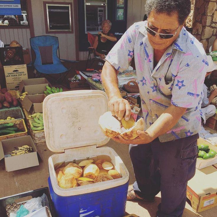 Mahalo for tuning in to my radio show #air_g #hawaiiantime  I'm craving for some fresh coconut juice and coconut meatBroke da mouth . 私のラジオ番組 #airg #ハワイアンタイム にお付き合いマハロ  今は新鮮なココナッツジュースがスゴく飲みたい気分飲んだ後のココナッツの実はプルプルでめっちゃ美味しい 写真はハワイのとあるロコしかいないファーマーズマーケットにて . #locostyle #islandstyle #farmersmarket #coconuts #ファーマーズマーケット #ココナッツ #onairpersonality #partymc #hulagirl #selfdiscoveryjourney #sapporo #hokkaido #hawaii #aloha #ハワイ #アロハ #札幌 #北海道 #ラジオdj #司会者 #マッサージセラピスト #鍼灸師 #通訳 #ライター#フラガール #ロコガール