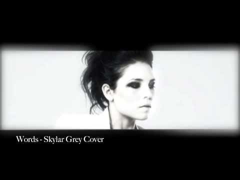 Words - Skylar Grey Cover - YouTube
