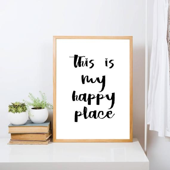 This Is My Happy Place Print Quote Poster Quote Wall Art Etsy Quote Prints Wall Art Quotes Etsy Wall Art