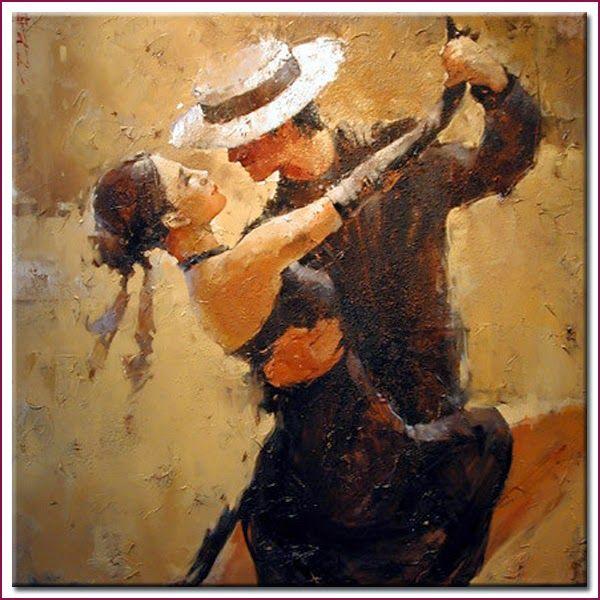 Pintura de pareja bailando buscar con google arte - Cuadros de parejas ...