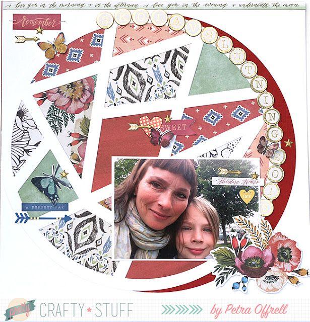 mitt kreativa kaos: Skolavslutning 2015 med Wildflower från We R Memory Keepers
