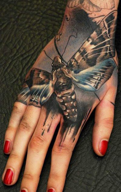 Tattoo Artist - Florian  Karg - Insect tattoo Couldn't do hand tatto but this looks good!!  Props to the artist
