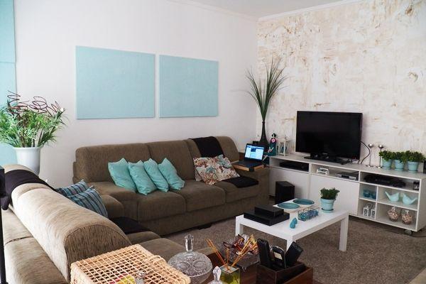 Sala De Estar Marrom E Branco ~  de cor turquesa, Paletas de cores do quarto e Esquemas de cores para