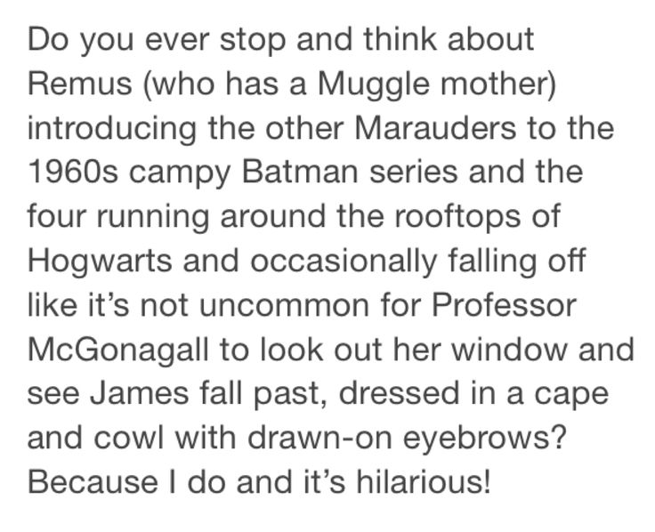McGonagall wouldn't have even blinked