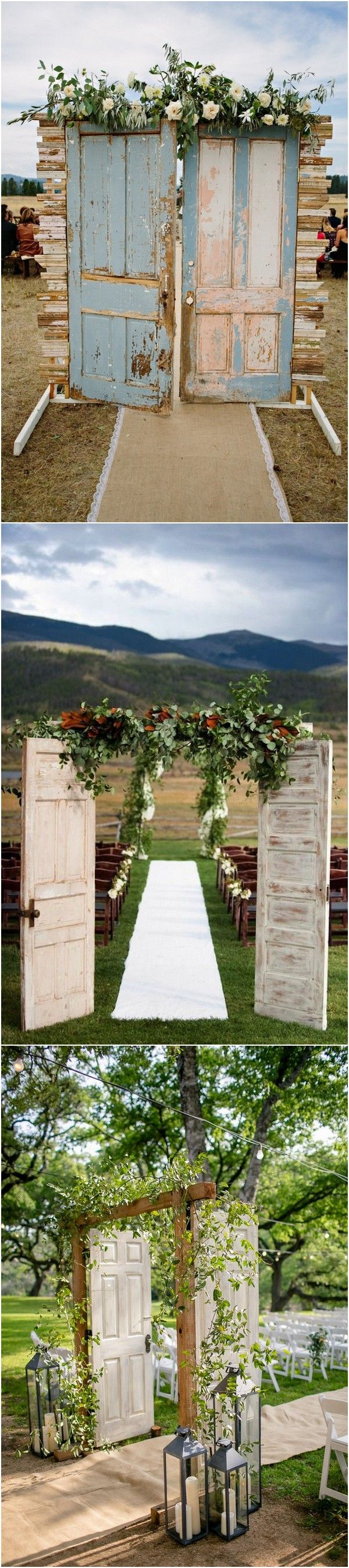 chic vintage wedding entrance door ideas