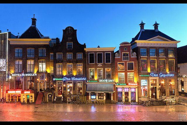 De Drie Gezusters. Grote Markt, Groningen. The Netherlands.
