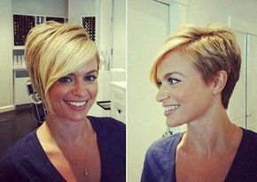 Trendy Blonde Pixie Cut Idea