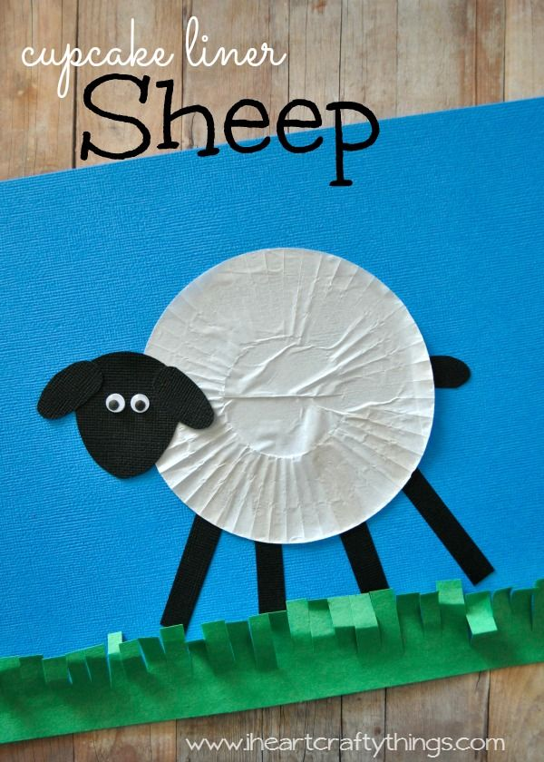 Cupcake Liner Sheep Craft for Kids | Fun craft to go along with Chinese New Year and it being the year of the sheep. | from iheartcraftythings.com