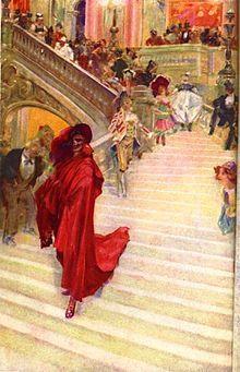 Aquarelle d'André Castaigne illustrant la première édition américaine du roman (1911)3.