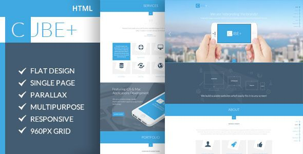 Cube+ | One-Page Parallax HTML Template