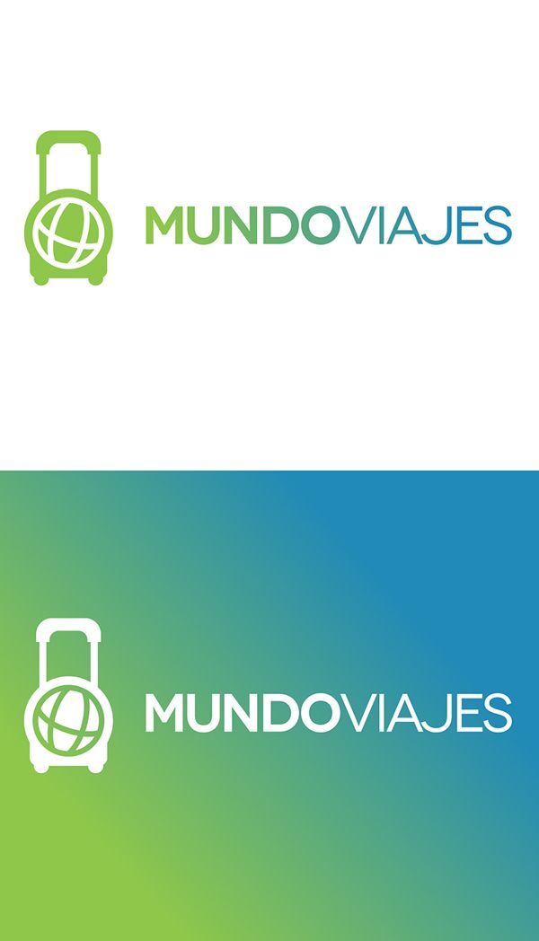 "Logo and Brand identity for ""Mundoviajes"" travel agency."