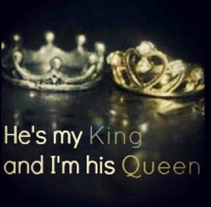 He is my king but he calls me a princess cause when he say queen all he can think of is the wicked queen......so freaking cute