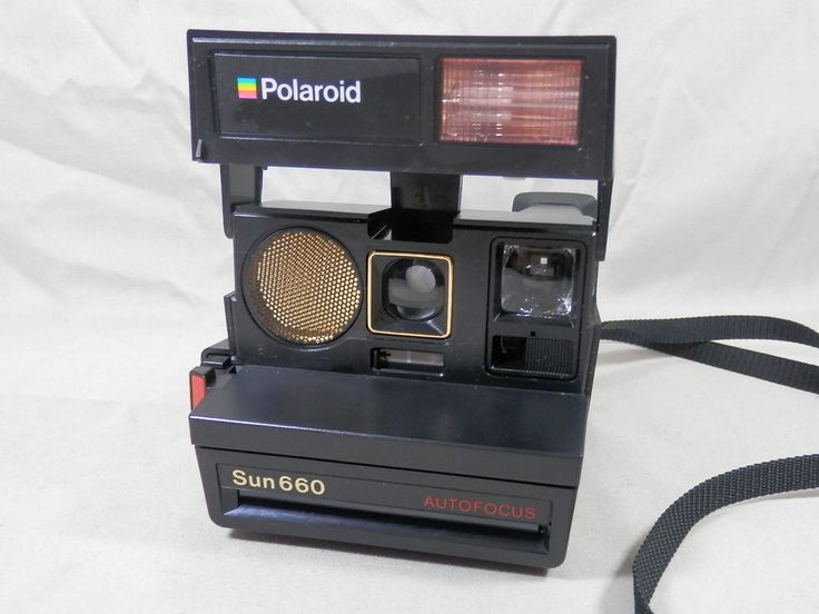 vintage polaroid sun autofocus 660 instant film 600 camera working polaroid cayman hill. Black Bedroom Furniture Sets. Home Design Ideas