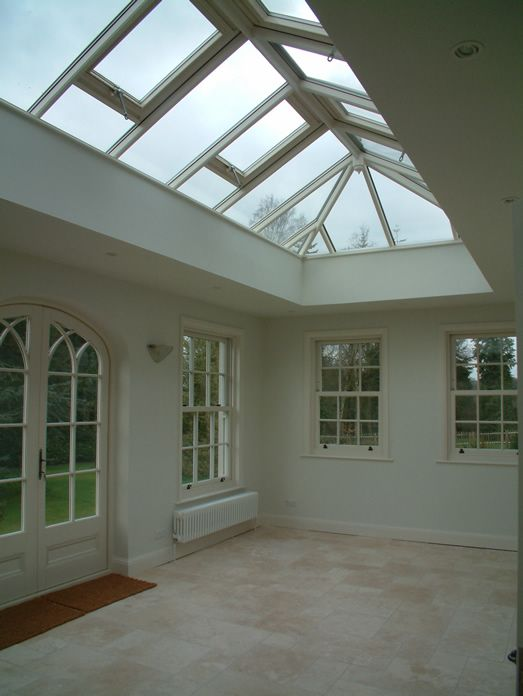 Interior of Orangery, with substantial roof lantern