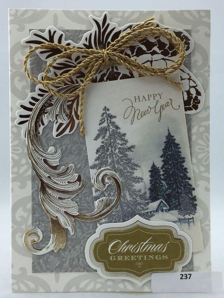 Handmade Greeting Card, Christmas Holiday, Anna Griffin Style, # 237 #Handmade #Christmas