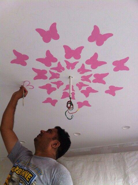 Girls room Ceiling painting... Update soon