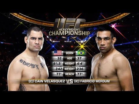 Fight Night London Free Fight: Fabricio Werdum vs Cain Velasquez - YouTube