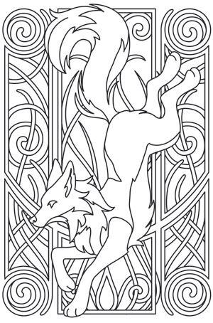 Fox Nouveau design (UTH7763) from UrbanThreads.com