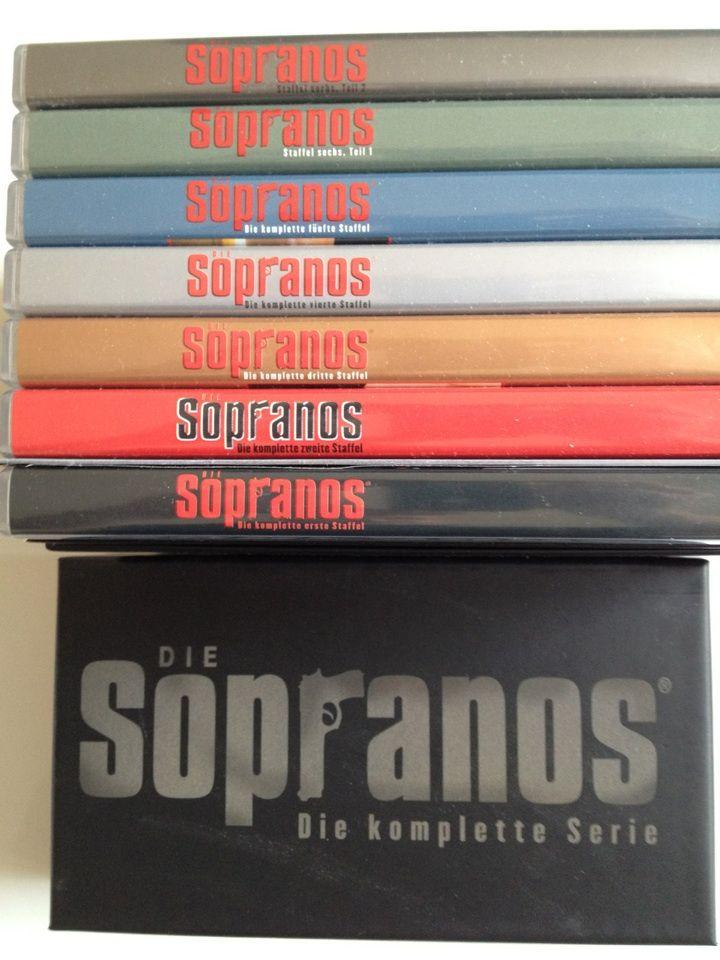 Die Sopranos - die ultimative Mafiabox (28 DVDs)  Neuwertig! Nur einmal gesehen und schweren Herzens abzugeben. 28 DVDs die sich lohnen!!!!