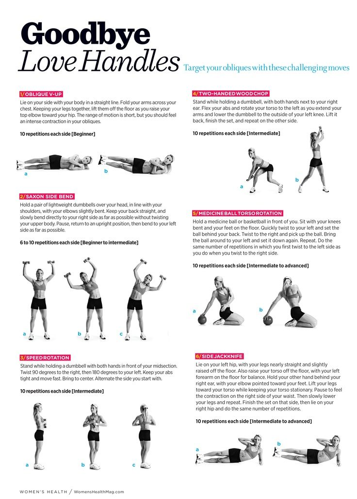 Good Bye Love Handles. via @Marsha Penner Penner Penner Crowe's Health Magazine - this workout is amazing!