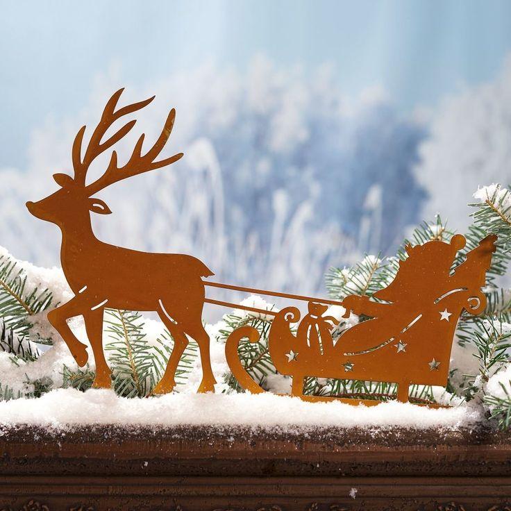 weihnachtsdeko gartenstecker weihnachtsmann mit. Black Bedroom Furniture Sets. Home Design Ideas