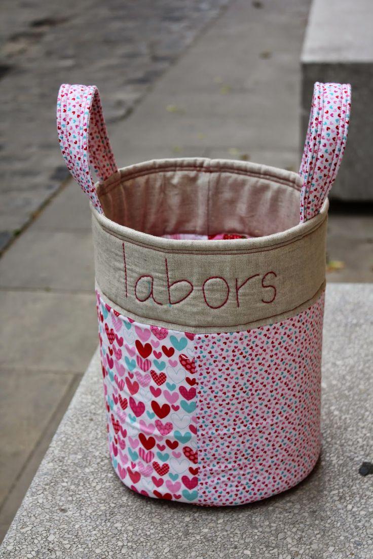 Tela marinera patchwork cestas tela marinera - Cestos de tela ...