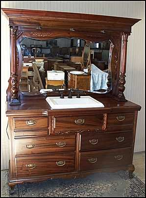 Hmmm This Might Be Taking Quot Old Dresser Turned Vanity Quot Too