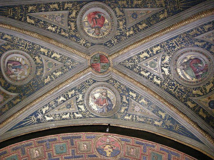 Appartamento Borgia,  SOFFITTO-L'Appartamento Borgia è una serie di sei ambienti monumentali nel Palazzo Apostolico della Città del Vaticano, facenti oggi parte del percorso dei Musei Vaticani in cui è in parte ospitata, dal 1973, la Collezione d'Arte Religiosa Moderna.