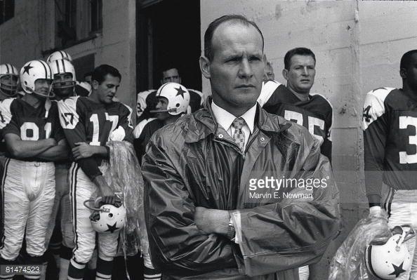 News Photo : Closeup of Dallas Cowboys coach Tom Landry before...
