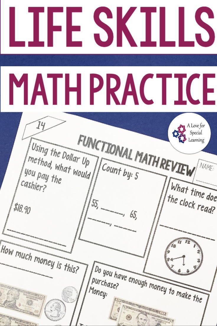 Functional Math Practice In The Classroom Special Education Math Money Math Worksheets Consumer Math