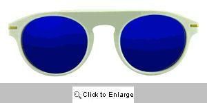 Road Racer Aviators Sunglasses - 562 White
