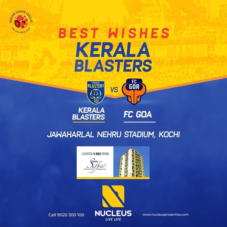 Best wishes Kerala Blasters for the match against FC Goa in the ISL- Indian Super League.  #KeralaBlasters #KBFC #YellowTakesOver #KERGOA #LetsFootball  #India  #Architecture #Home #City #Elegance #Environment  #Beautiful #Exquisite #Interior #Design #Comfort #Luxury #Life  #Style #LifeStyle #Nature #View #Atmosphere #Apartment #Villa